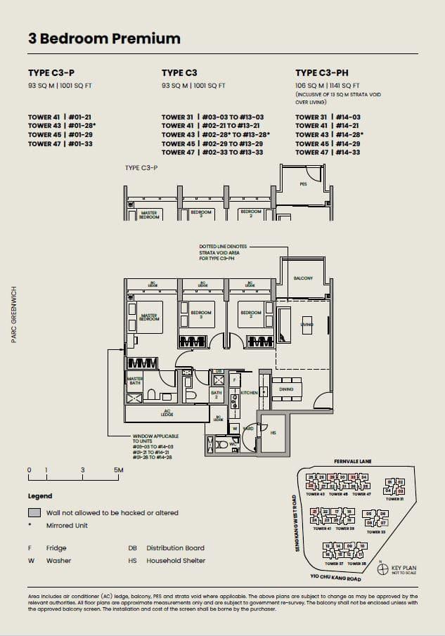 Parc-Greenwich-Floor-Plan-3-Bedroom-Premium-type-C3-P